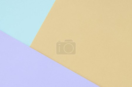 Photo for Texture background of fashion pastel colors. Violet, orange, and blue geometric pattern papers. minimal abstract. - Royalty Free Image