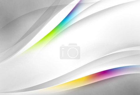 Photo for Abstract wavy vector background - Royalty Free Image