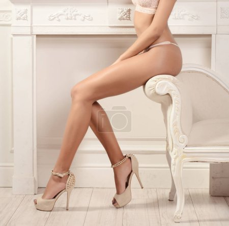 Photo for Beautiful sexy woman with long legs -glamour  concept - Royalty Free Image