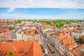 Aerial view. Old town in Chelmno, Poland