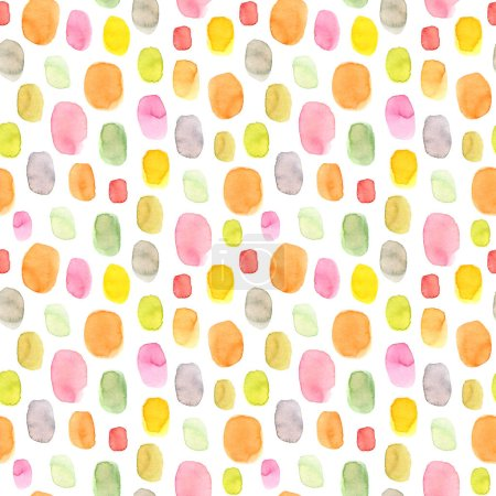 Photo for Polka dot seamless pattern. Hand drawn texture. Watercolor hand painted circles seamless for your design. - Royalty Free Image