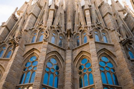 BARCELONA, SPAIN - April, 2019: La Sagrada Familia...