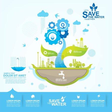 Foto de Guardar concepto de vector de agua - Imagen libre de derechos
