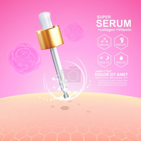 serum drop and vitamin beauty skincare vector concept cosmetic for skin care Products.