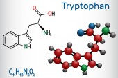 Tryptophan Trp or W amino acid molecule is used in the biosynthesis of proteins It is necessary for growth in infants and for nitrogen balance in adults