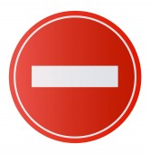 Stop Sign  No entry Sign Dont do it Vector illustration