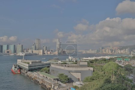 The Victoria Harbour at central view of city...