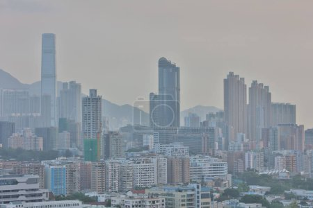 the middle of Kowloon, Hong Kong Skyline