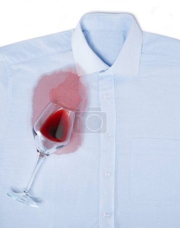 Photo for Spilled wine on a shirt - Royalty Free Image