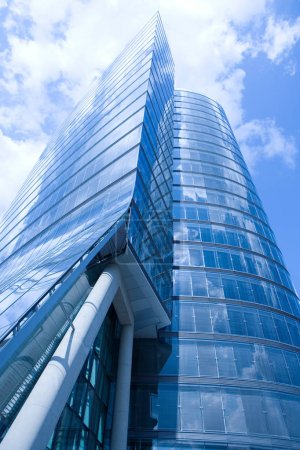 Glass building facade background