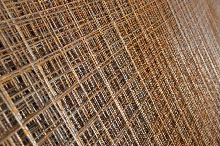 Photo pour Texture du fil métallique rouillé - image libre de droit