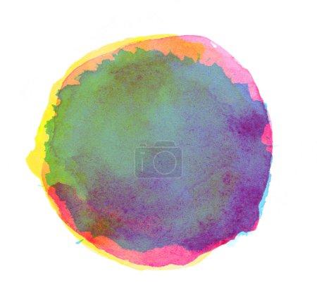 Photo pour Coup d'aquarelle isolé sur blanc - image libre de droit