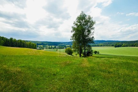 view over the fields and meadows to Gie huebel