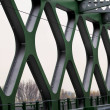Tramway bridge over river Danube in urban city of ...