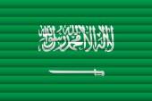 National Flag of Saudi Arabia Vector Illustration