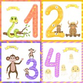 Children's learning to count and write the study of numbers 0-10