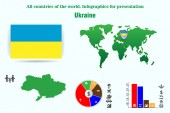 Ukraine. All countries of the world. Infographics for presentation. Set of vectors