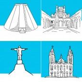 Rio de Janeiro set of buildings