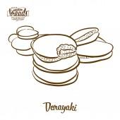 Dorayaki bread vector drawing