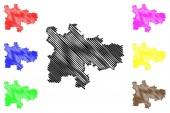 Glasgow map vecto