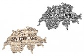 Map of Switzerland - vector illustration