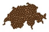 Switzerland -  map of coffee bean