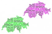 Map of Switzerland - vector illustration