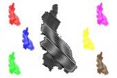 Cajamarca Region map vecto