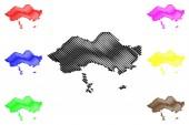 Fergana Region map vecto
