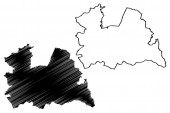 Utrecht province (Kingdom of the Netherlands Holland) map vector illustration scribble sketch Utrecht map