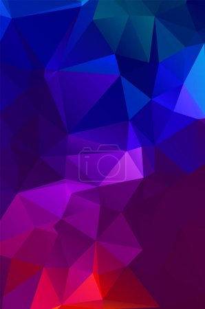 Illustration for Purple vivid  vector texture with triangular style. Illustration with set of colorful - Royalty Free Image