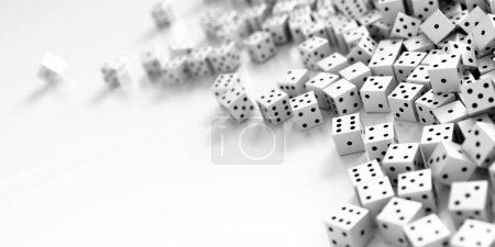 Infinite dices background, 3d rendering