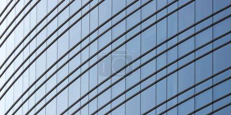 Photo pour Complexe moderne d'immeubles de bureaux en verre, arrière-plan de photographie urbaine et d'architecture, cadre complet - image libre de droit