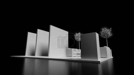 Photo pour Kiosque commercial 3d modèle, présentation et promotion - image libre de droit