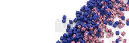 Photo pour L'Europe et le Royaume-Uni des relations politiques et économiques, fond de rendu 3d, notions de Brexit - image libre de droit