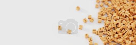 Photo pour Emballages en papier 3D, boîtes d'expédition - image libre de droit