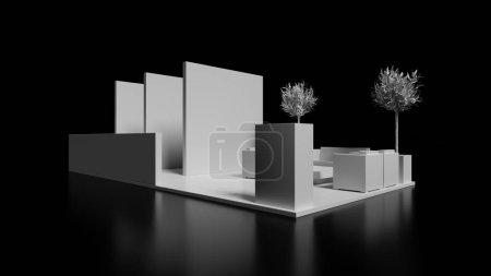3d trade kiosk model, presentation and promotion