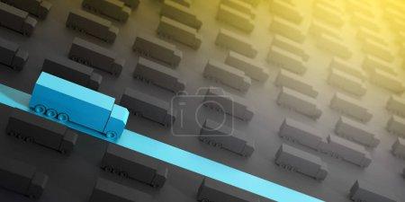 Photo pour Concept de l'industrie logistique, illustration de rendu 3d - image libre de droit