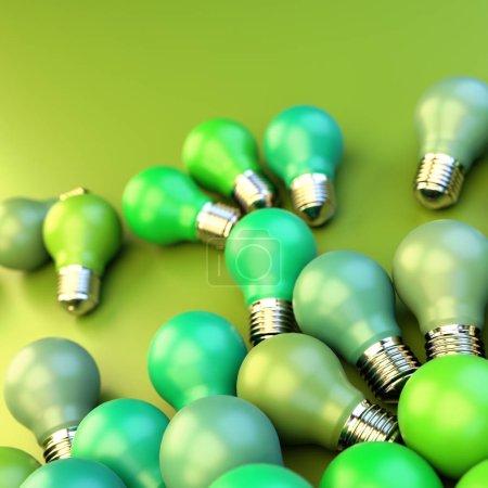 Foto de Primer plano de fondo bulbos de colores - Imagen libre de derechos