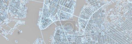 Photo pour Techno méga ville ; concepts technologiques urbains et futuristes, rendu 3D original - image libre de droit