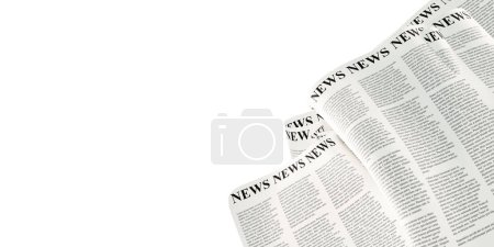 Photo for Abstract newspaper background, original 3d rendering - Royalty Free Image