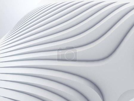 Photo pour Fond de motif architectural futuriste à rayures blanches. Illustration de rendu 3D - image libre de droit