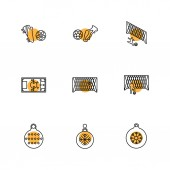 set of various theme app icons vector illustrations on white background