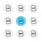 Different minimalistic flat vector app icons