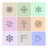 set of various  vector app icons