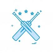 bat bats star cricket icon vector design