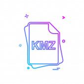 KMZ file type icon design vector illustration