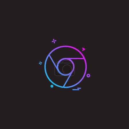 Google chrome icon design vector
