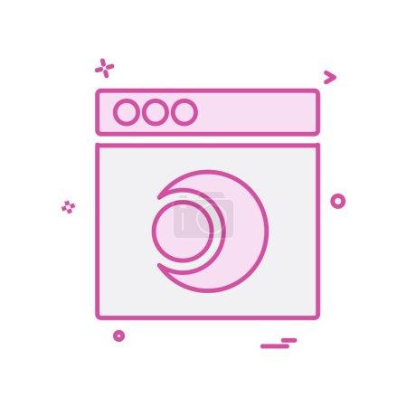 Web layouts icon design vector