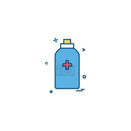 Bottle icon design, colorful vector illustration...